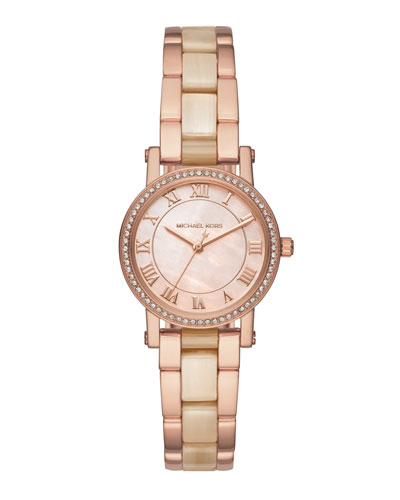 28mm Petite Norie Bracelet Watch in Rose Golden/Champagne