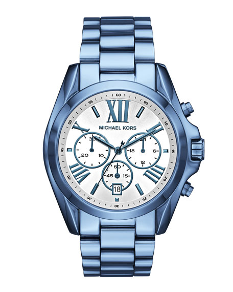 43mm Bradshaw Chronograph Watch in Ocean Blue IP