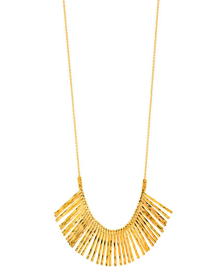 Kylie Fan Necklace, Gold