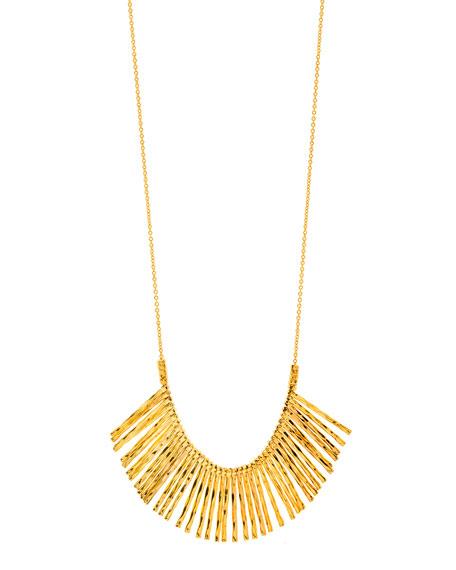 Kylie Fan Necklace, Gold
