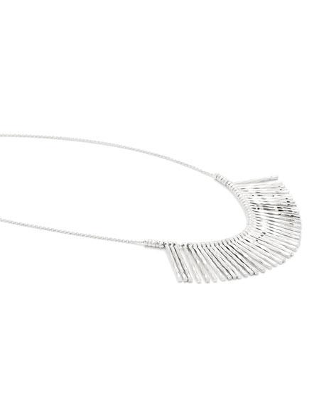 Kylie Fan Necklace, Silver