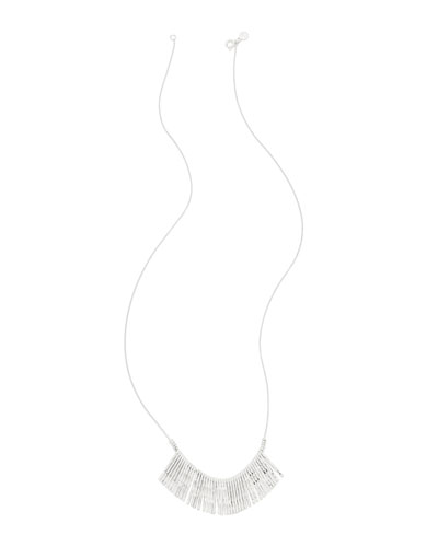 Kylie Fan Necklace, Silver