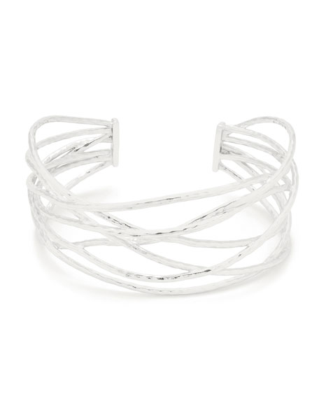 gorjana Lola Sculptural Cuff Bracelet, Silver