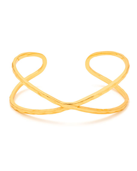 gorjana Elea Crisscross Cuff Bracelet, Gold