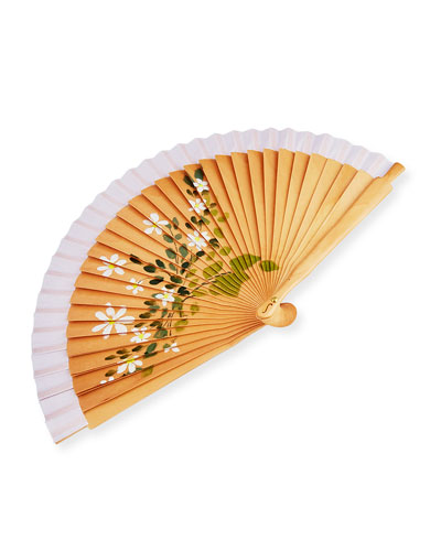 Small Floral Hand Fan, Daisy
