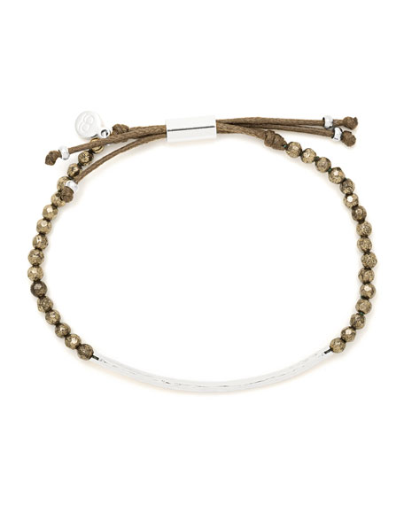 Power Gemstone Pyrite Bracelet for Strength, Silver