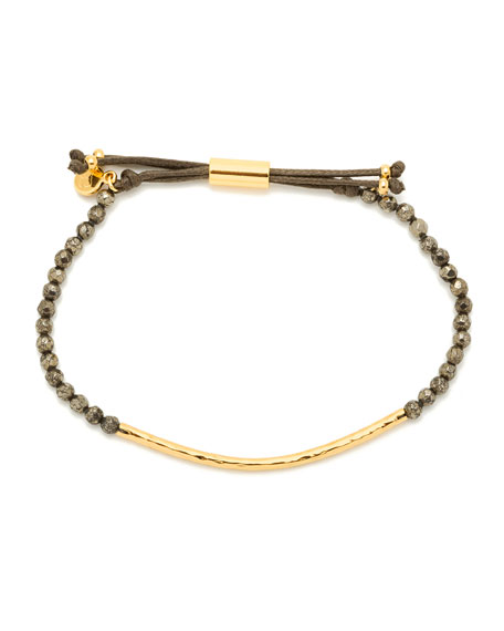Power Gemstone Pyrite Bracelet for Strength, Gold