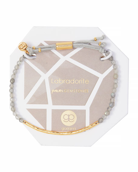Power Gemstone Labradorite Bracelet for Balance, Gold