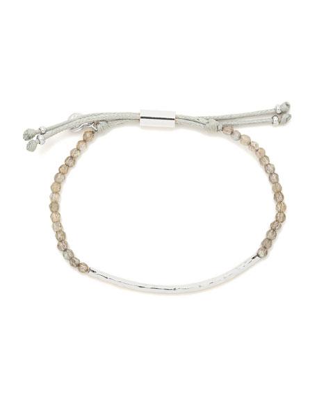 Power Gemstone Labradorite Bracelet for Balance, Silver