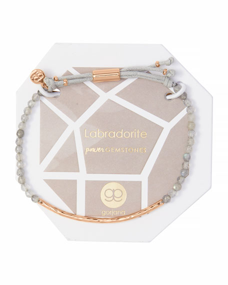Power Gemstone Labradorite Bracelet for Balance, Rose Gold