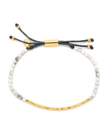 Power Gemstone Howlite Bracelet for Calming, Gold