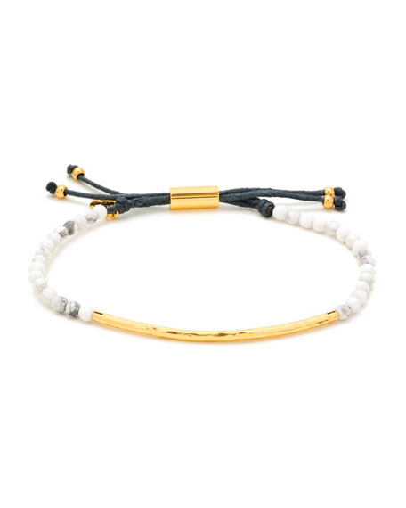 gorjana Power Gemstone Howlite Bracelet for Calming, Gold