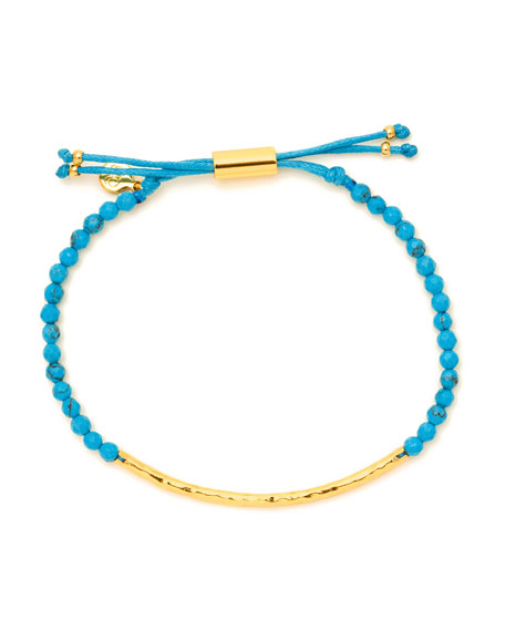 Power Gemstone Turquoise Bracelet for Healing, Gold