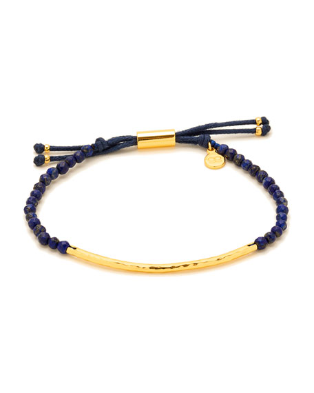 Power Gemstone Lapis Bracelet for Wisdom, Gold