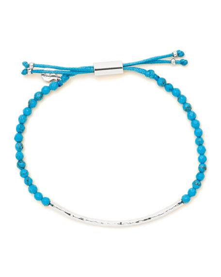 Power Gemstone Turquoise Bracelet for Healing, Silver