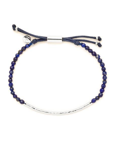 Power Gemstone Lapis Bracelet for Wisdom, Silver