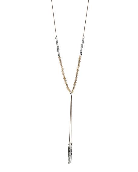Power Gemstone Labradorite Necklace for Balance, Silver