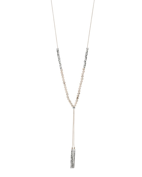 Power Gemstone Howlite Necklace for Calming, Silver