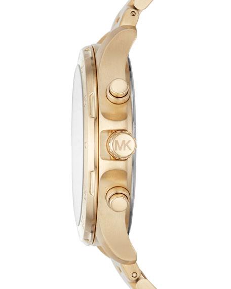 Men's 44mm Walsh Chronograph Bracelet Watch, Yellow Golden