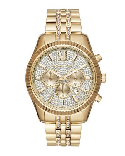 44mm Lexington Chronograph Glitz Bracelet Watch