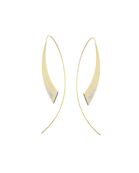 Small Flawless Gloss Hooked on Hoops Earrings with Diamonds