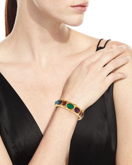 Cabochon Stud Bangle Bracelet