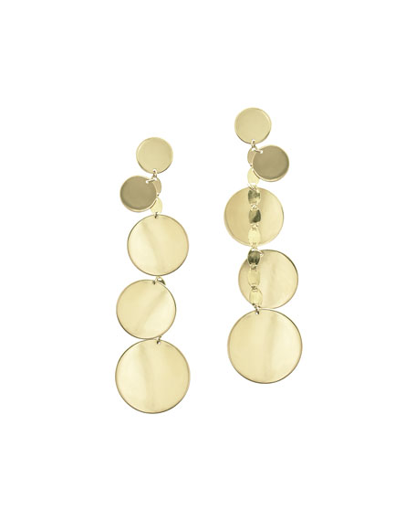Five-Disc Linear Drop Earrings