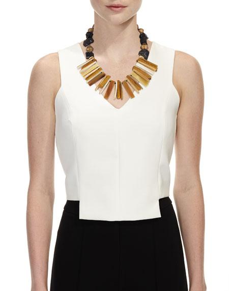 Horn Bib Necklace