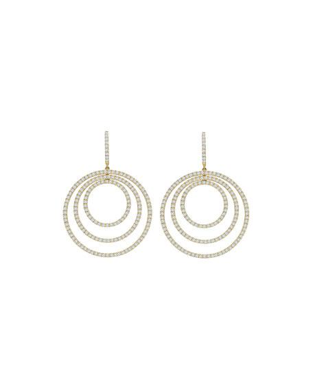 Lola Concentric Diamond Drop Earrings