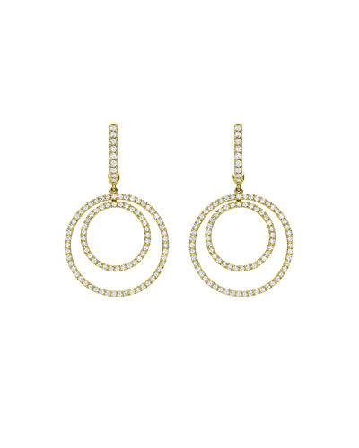Lola Diamond Double-Circle Drop Earrings