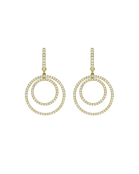 Kiki Mcdonough Lola Diamond Double-Circle Drop Earrings S1CfwFYy