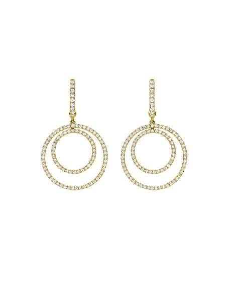 Kiki Mcdonough Lola Diamond Double-Circle Drop Earrings phJvq6Tp