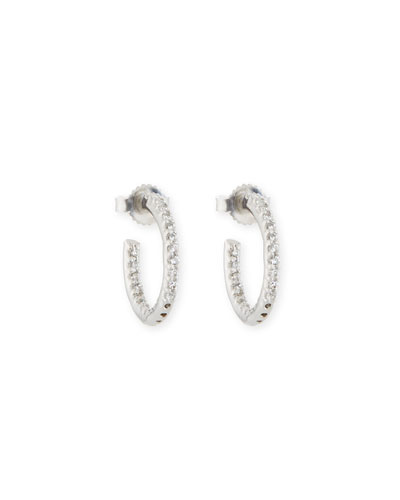 Tiny Inside-Out CZ Hoop Earrings