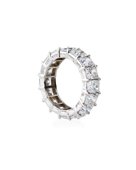 Radiant-Cut CZ Eternity Band Ring