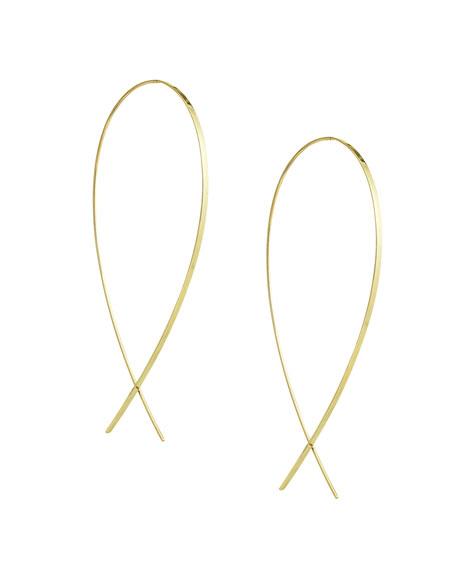 Large Wide Upside Down Hoop Earrings