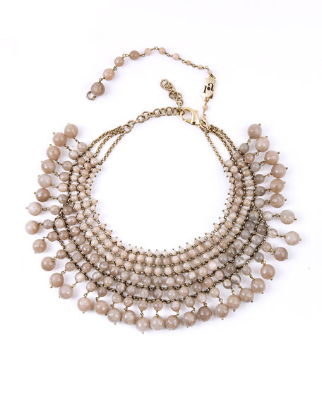 Rosantica Beaded Sunstone Bib Necklace
