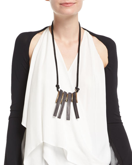 Leather Saber Tooth Necklace
