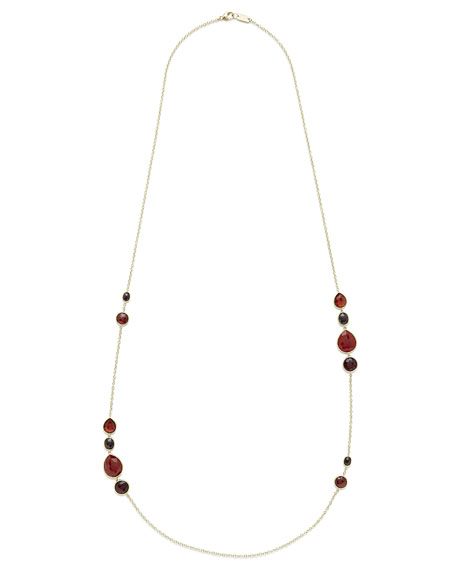 18K Rock Candy Gelato Grouped Station Necklace, 37""