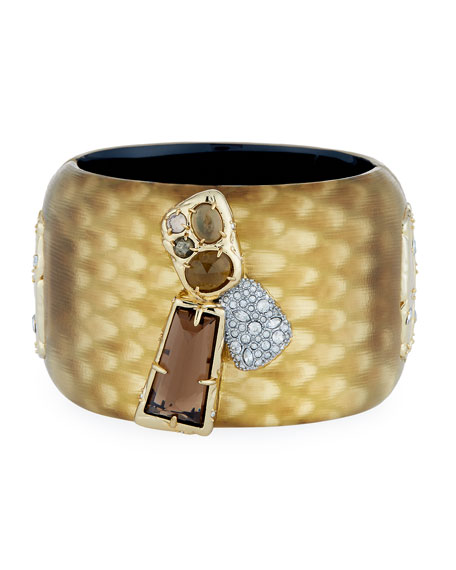 Alexis Bittar Wide Lucite Hinge w Rocky St