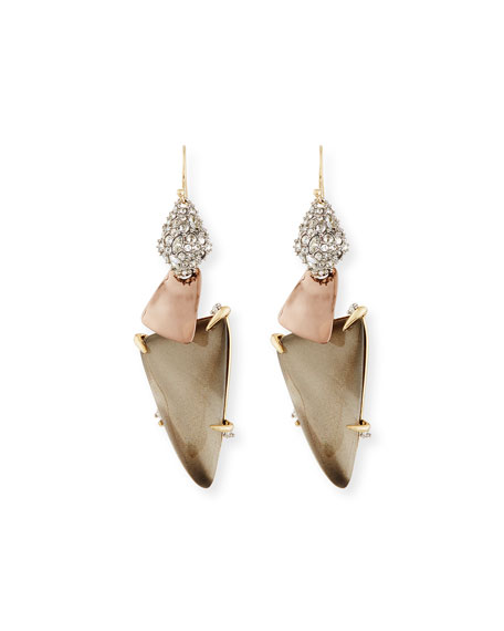Alexis Bittar Long Triangle Lucite Drop Earrings