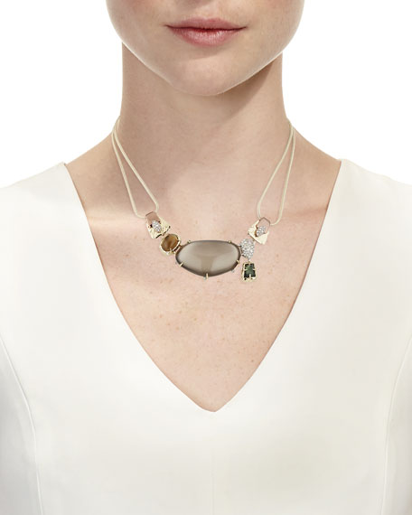Lucite and Stone Bib w Buckl