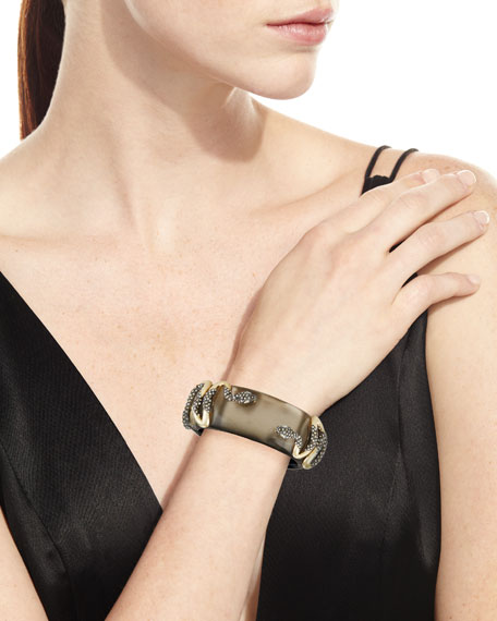 Double Snake Hinge Cuff Bracelet