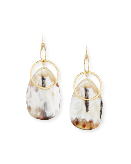 Devon Leigh Horn Teardrop Statement Earrings