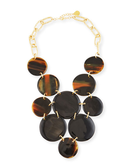 Devon Leigh Horn Coin Bib Necklace