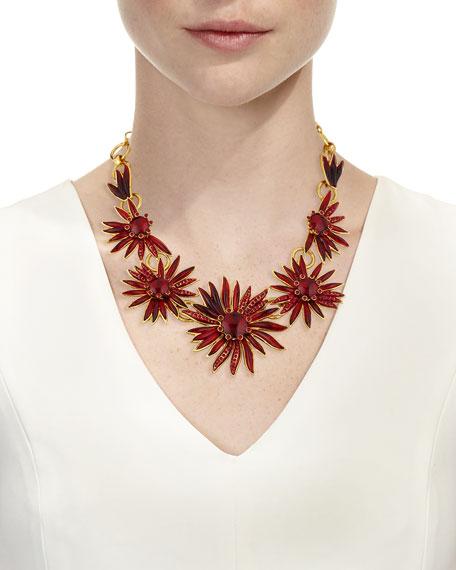 Floral Resin Station Necklace