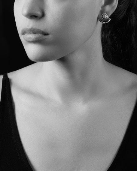 Diamond & Caviar Jacket Stud Earrings
