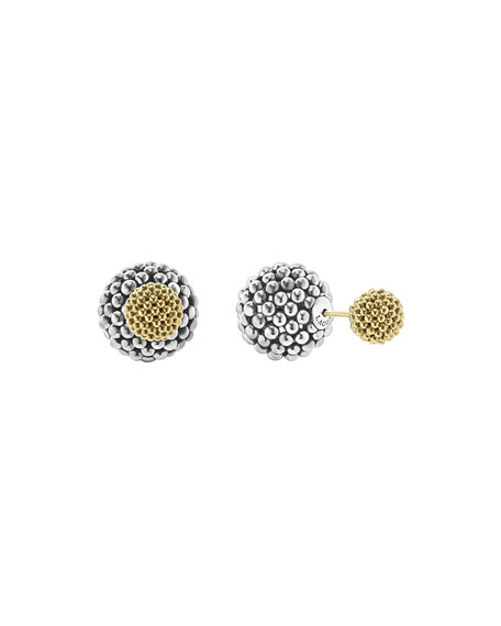 Lagos Sterling Silver & 18K Gold Front-Back Ball