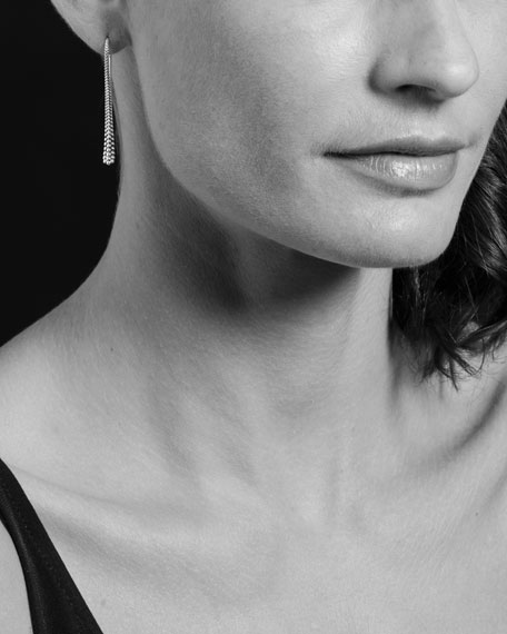 Linear Caviar Wire Drop Earrings