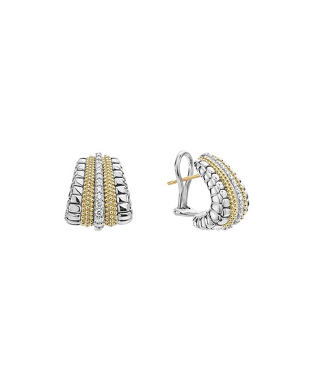 Lux Large Shrimp Earrings with Diamonds