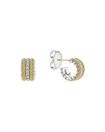 Diamond Lux Mini Hoop Earrings